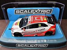 """Scalextric  Honda Civic Type R   N° 52  """" BTCC 2015 """"   Ref.  C3783"""