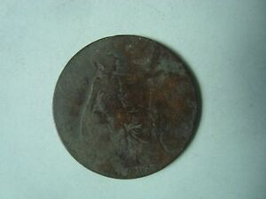 1917 HALF PENNY GEORGE V COIN (CIRCULATED)