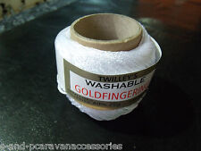 Twilleys GOLDFINGERING. 10 White 25g ball.METALLIC CROCHET & KNITTING YARN