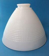 "Vintage Corning Torchiere Diffuser Floor Lamp Shade Globe Waffle Milk Glass 8"""