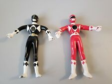 Vintage Power Rangers Bendables Lot (2) Black and Red Ranger