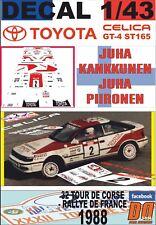 DECAL 1/43 TOYOTA CELICA GT-4 J.KANKKUNEN T.DE CORSE 1988 DnF (01)