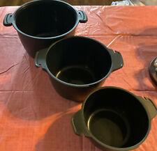Pampered Chef : Micro-Cooker Set. #100041 (1qt, 2qt, & 3qt) Missing Lids!