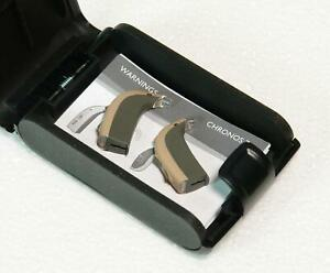 Pair of Bernafon Chronos 7 CN7 C Behind the Ear BTE Hearing Aids L&R New/Unused