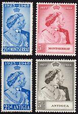 King George VI Silver Wedding - Antigua & Montserrat - MH F/VF