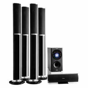 Heimkino System 5.1 Lautsprecher Surround Sound USB SD Bluetooth 145W RMS AUX