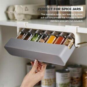 Wall-mounted Home  Kitchen Spice Bottle Organizer Storage Rack Punch-free