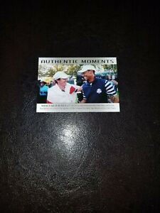 Tiger Woods & Rory Mcilroy UD SP Authentic 2014 Authentic Moments Card 75! Mint!