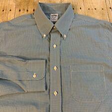 Brooks Brothers Regent Slim Fit Non Iron Micro Check Dress Shirt 15.5 33