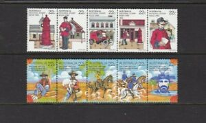 AUSTRALIA 1980 MNH 2 SETS STAMP WEEK - WALTZING MATILDA