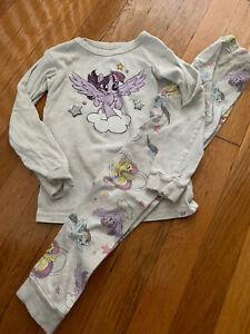 baby gap girls my little pony pajamas 5t gray