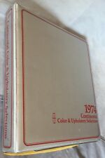 Deluxe 1974 Continental, Pantera dealer color & upholstery book Mark IV Lincoln