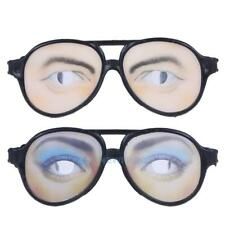Funny Costume Eye Glasses Toy Halloween Party Prop Gag Gift TN2F