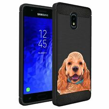 For J7(2018) / J7 Crown/ Top, Case Dog Designs Slim Black Flexible Tpu Cover