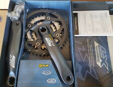 NOS SHIMANO DEORE LX HOLLOWTECH 9 SPD BICYCLE 175MM 44/32/22T CRANKSET M571