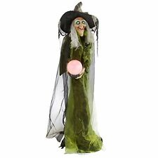 Halloween Animated Witch Prop Motion Activated Scary Decoration Spooky Decor 62""