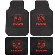 4pc Front & Rear Red Dodge RAM Logo Floor Mats Hemi Mopar New Free Shipping USA