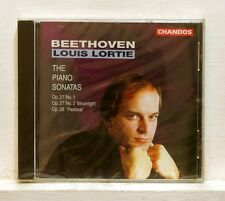 LOUIS LORTIE - BEETHOVEN piano sonatas 13 14 15 - CHANDOS CD STILL SEALED