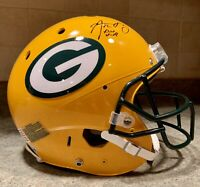Aaron Rodgers Signed SB XLV Game Issued Model Pro Packers NFL Game Helmet COA