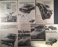 Lot of 7 ALFA ROMEO 1750s Original Vintage Full Page Print Advertisments