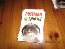 POSTMAN BEWARE! - comedy warning sign from Otter House, 21 x 15 cm