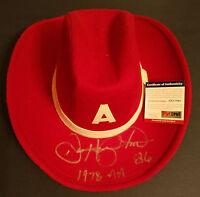 Dan Hampton signed autograph Vintage University of Arkansas Cowboy Hat PSA Cert