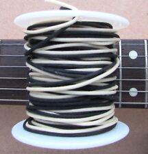 "50 ft"" Vintage style Gavitt Cloth Push Back Guitar Wire Black & White 22ga feet"