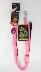 DOGlite Mini DOG Leash LED Lead Dual Handle 120cm Size S Pink Sky