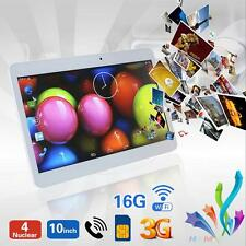 "10"" inch 3G Unlocked HD Android Tablet PC Two SIM Phone Call 16G WiFi Phablet"
