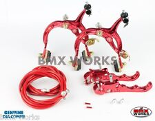 Dia-Compe MX1000 - MX120 Red Brake Set - Old Vintage School BMX Style Brakes