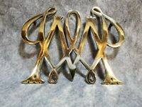Virginia Metalcrafters Brass William and Mary Trivet
