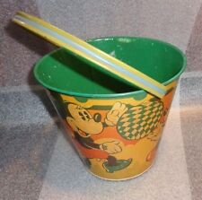 old tin litho Mickey Mouse Happynak  sand pail toy