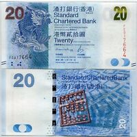 HONG KONG 20 DOLLARS 2016 / 2017 P 297 NEW DATE + SIGN SCB UNC