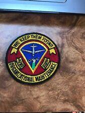 "Rare Vtg Vietnam Cold War 70s 42nd Org Maintenance Squadron Patch 3"" USAF OMS"