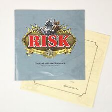 Instructions For Risk 40th Anniversary Collectors Edition Board Game Parts