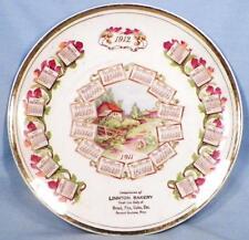 1911 1912 Calendar Plate Linnton Bakery Premium Herman Guelzow Erie County NY