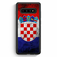 Kroatien Splash Flagge Hrvatska Croatia Samsung Galaxy S10 Silikon Hülle Moti...