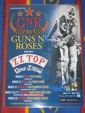 GUNS N ROSES - Chinese Democracy 2013 Australian Laminated Tour Poster 1