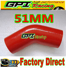 RE* Silicone Hose 45 degree Bend Elbow 2inch 51mm Silicon Tube pipe INTERCOOLER