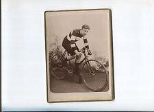 N°8771 /  photo coureur cycliste 1910 environ   trés belle qualité