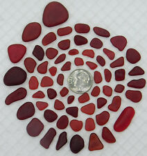 GENUINE BEACH SEA GLASS RED LOT SURF TUMBLED HARD TO FIND! RARE!