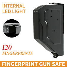 Biometric Fingerprint Lock Gun Security Handgun Safe Pistol Box Vault Premium