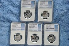 2016 S Silver Quarter Set, NGC, PF70, 1st Day of Issue