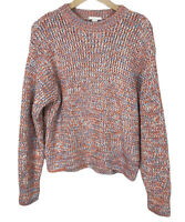 H&M Size 10 Eur S Colourful Chunky Knit Round Neck Jumper