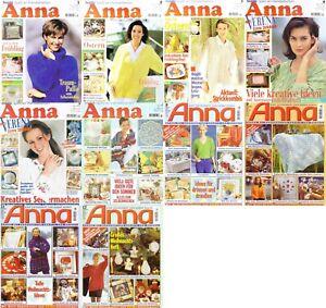 ZEITSCHRIFT: ANNA Spass an Handarbeiten Ausgaben - Auswahl aus 1997 siehe Bilder