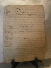 Acte notarié généralité 1846 vente de vignes ban d'Eulmont Lorraine