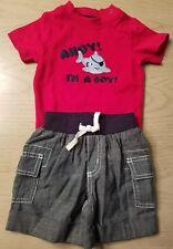 Gymboree FIRST MATEY 2PC SET Ahoy! Pirate shark bodsyuit & Shorts 6-12 mos NWT