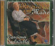 Recordando A Mi Madre Canciones Inolvidables Latin Music CD