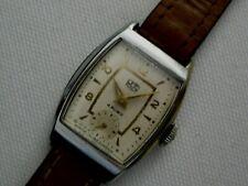 Alte UMF RUHLA mech. Werk 4 RUBIS mit HANDAUFZUG Armbanduhr TANKFORM 50er Jahre