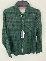 Grayers Heritage Flannel Mens Size M Medium Button Down Shirt Green/Black Plaid